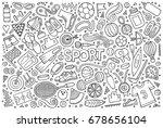 line art vector hand drawn... | Shutterstock .eps vector #678656104