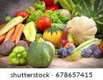 healthy food   fresh organic... | Shutterstock . vector #678657415