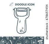 peeler doodle | Shutterstock .eps vector #678657454