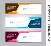 vector abstract design banner... | Shutterstock .eps vector #678662305