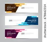 vector abstract design banner... | Shutterstock .eps vector #678662314