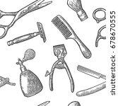 seamless pattern set tool for... | Shutterstock .eps vector #678670555