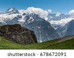 the grindelwald first walk way  ... | Shutterstock . vector #678672091