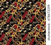 Paisley Seamless Pattern. Blac...