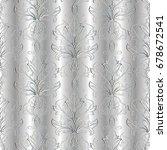 baroque seamless pattern.  3d...   Shutterstock .eps vector #678672541