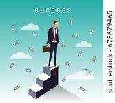 success business man on top... | Shutterstock .eps vector #678679465