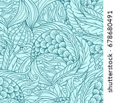 abstract under sea flora... | Shutterstock .eps vector #678680491