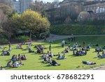 edinburgh  united kingdom. 8...   Shutterstock . vector #678682291