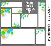 white social media banners set... | Shutterstock .eps vector #678683149