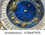 ancient clock torre dell... | Shutterstock . vector #678687955