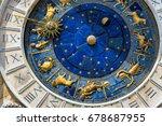 ancient clock torre dell... | Shutterstock . vector #678687955