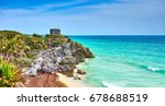 caribbean coast of mexico  ... | Shutterstock . vector #678688519