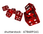 crystal red casino dices 3d... | Shutterstock . vector #678689161
