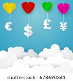 heart balloon with us dollar ... | Shutterstock .eps vector #678690361