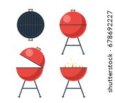 barbecue grill. bbq icons set....   Shutterstock .eps vector #678692227