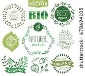 organic bio ecology natural... | Shutterstock . vector #678694105