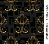 endless abstract pattern.... | Shutterstock .eps vector #678694321