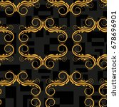 endless abstract pattern.... | Shutterstock .eps vector #678696901