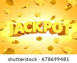 jackpot sign with gold... | Shutterstock .eps vector #678699481