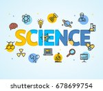 science research template line... | Shutterstock .eps vector #678699754