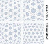 3d hexagons patterns. abstract... | Shutterstock .eps vector #678705955