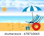 summer beach design in the...   Shutterstock .eps vector #678710065
