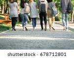 cropped back view image of... | Shutterstock . vector #678712801