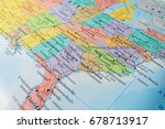 south usa states on the map | Shutterstock . vector #678713917