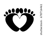 footprint isolated vector... | Shutterstock .eps vector #678716461