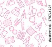 cosmetic simless pattern.... | Shutterstock .eps vector #678716929