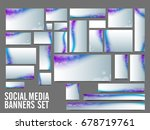 creative social media banners... | Shutterstock .eps vector #678719761