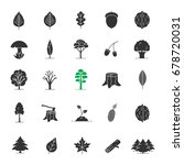 tree types glyph icons set.... | Shutterstock .eps vector #678720031