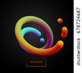 abstract 3d colorful curved... | Shutterstock .eps vector #678724687