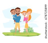 happy family with children with ...   Shutterstock .eps vector #678725899