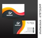 professional business card or