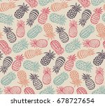 vector seamless pattern with... | Shutterstock .eps vector #678727654