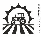 tractor icon | Shutterstock .eps vector #678729991