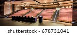 lecture hall with red seats for ... | Shutterstock . vector #678731041