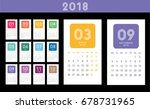 colorful calendar layout for...   Shutterstock .eps vector #678731965