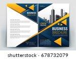 vector brochure layout  flyers... | Shutterstock .eps vector #678732079
