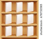 bookshelf and books with blank... | Shutterstock .eps vector #678733585