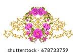 golden textured curls. oriental ... | Shutterstock . vector #678733759