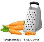 grate set. grated carrots and... | Shutterstock .eps vector #678733945