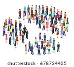 isometric flat 3d isolated... | Shutterstock .eps vector #678734425