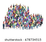 isometric flat 3d isolated...   Shutterstock .eps vector #678734515