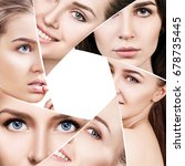 collage of beautiful woman... | Shutterstock . vector #678735445