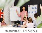 young teacher learning kids... | Shutterstock . vector #678738721