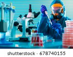 research of dangerous viruses... | Shutterstock . vector #678740155