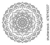 circular pattern in form of... | Shutterstock .eps vector #678745237