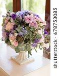 tender wedding decoration with... | Shutterstock . vector #678753085
